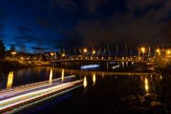 Weihnachtskajaks auf dem Deschutes-Fluss Stockfotos