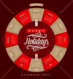 Weihnachtskalender 2015 Lizenzfreies Stockfoto