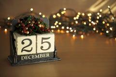 Weihnachtskalender Stockfotografie