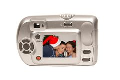 Weihnachtskamera stockfotos