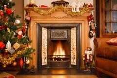 Weihnachtskamin Stockbild
