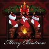 Weihnachtskamin Lizenzfreie Stockfotografie