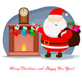 Weihnachtskamin Lizenzfreies Stockbild