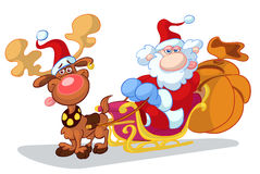 Weihnachtskarikatur Lizenzfreies Stockfoto