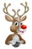 Weihnachtskarikatur-Ren lizenzfreie abbildung