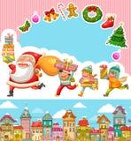 Weihnachtskarikaturen Lizenzfreies Stockbild