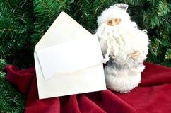 Weihnachtskarte ânote mit Sankt Lizenzfreie Stockfotos