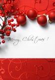 Weihnachtskarte Stockfotografie