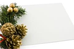 Weihnachtskarte Lizenzfreies Stockbild
