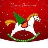 Weihnachtskarte. Stockbild