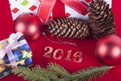 Weihnachtskarte 2016 Lizenzfreies Stockbild