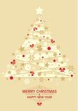 Weihnachtskarte 4 Stockbild