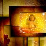 Weihnachtskarte Baby Jesus Stockfotos
