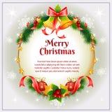 Weihnachtskarte Bell Stockfotos