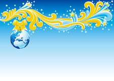 Weihnachtskarte - Europa Lizenzfreies Stockfoto