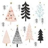 Weihnachtskarte für Einladung, Flieger, Planer, Aufkleber, scrapbooking, Druck, Plakate lizenzfreies stockbild