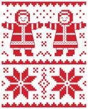 Weihnachtskarte - gestricktes Muster stock abbildung
