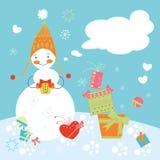 Weihnachtskarte, Karte des neuen Jahres Lizenzfreies Stockfoto