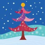 Weihnachtskarte, Karte des neuen Jahres Stockbild