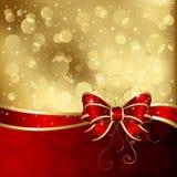 Weihnachtskarte mit Bogen vektor abbildung