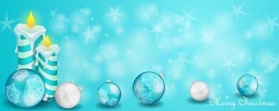 Weihnachtskarte mit Dekoration lizenzfreie abbildung