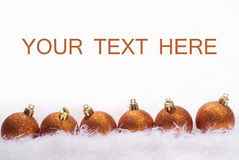 Weihnachtskarte mit Kugeln Lizenzfreie Stockfotos