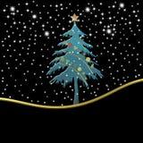 Weihnachtskarte mit leerer, heiliger Nacht vektor abbildung