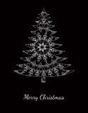 Weihnachtskarte mit Muster auf Schwarzem Lizenzfreie Stockfotografie