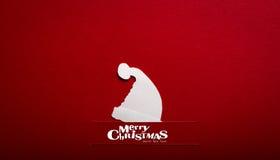 Weihnachtskarte mit origami Weihnachtsdekoration. Lizenzfreie Stockfotografie