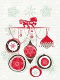 Weihnachtskarte mit Pferd Stockbilder