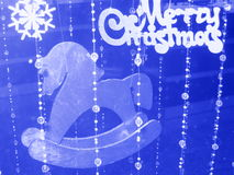 Weihnachtskarte mit Pferd - Fotos auf Lager Lizenzfreies Stockfoto