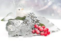 Weihnachtskarte mit Piepmatz Lizenzfreies Stockfoto