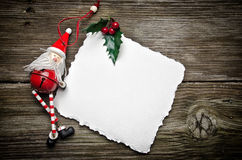 Weihnachtskarte mit Sankt Lizenzfreie Stockbilder
