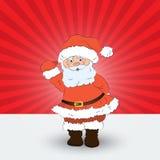 Weihnachtskarte mit Sankt vektor abbildung
