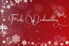 Weihnachtskarte mit Schnee Stockbild