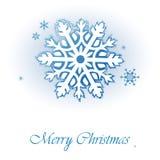 Weihnachtskarte mit Schneeflocken Lizenzfreie Stockbilder
