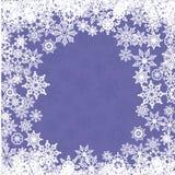 Weihnachtskarte mit Schneeflocken vektor abbildung