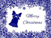 Weihnachtskarte mit Schneeflocken Lizenzfreies Stockbild