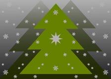 Weihnachtskarte mit Schneeflocken Stockfotos