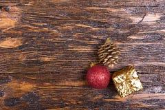 Weihnachtskarte mit Spielwaren Lizenzfreie Stockfotos