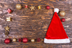 Weihnachtskarte mit Spielwaren Lizenzfreie Stockbilder