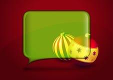 Weihnachtskarte mit Spracheluftblase Lizenzfreies Stockfoto