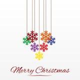 Weihnachtskarte mit stilisierter Weihnachtsbaumdekoration Stockbilder