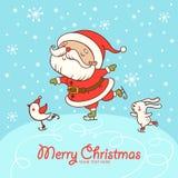 Weihnachtskarte mit Textbox lizenzfreie abbildung