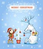 Weihnachtskarte mit Textbox vektor abbildung