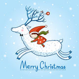 Weihnachtskarte mit Textbox stock abbildung