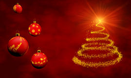 Weihnachtskarte mit Verzierungen Lizenzfreie Stockfotos