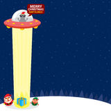 Weihnachtskarte mit Weihnachtsmann Stockbild