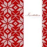 Weihnachtskarte, Nordic strickte Muster, Stockfotos