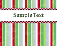 Weihnachtskarte oder -einladung mit bunten Bäumen Stockfotos
